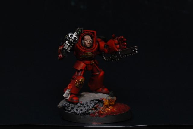 Blood Angels, Exorcists, Red, Space Marines, Terminator Armor, Veteran