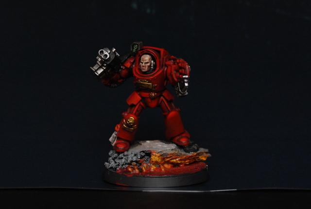 Blood Angels, Exorcists, Red, Space Marines, Terminator Armor