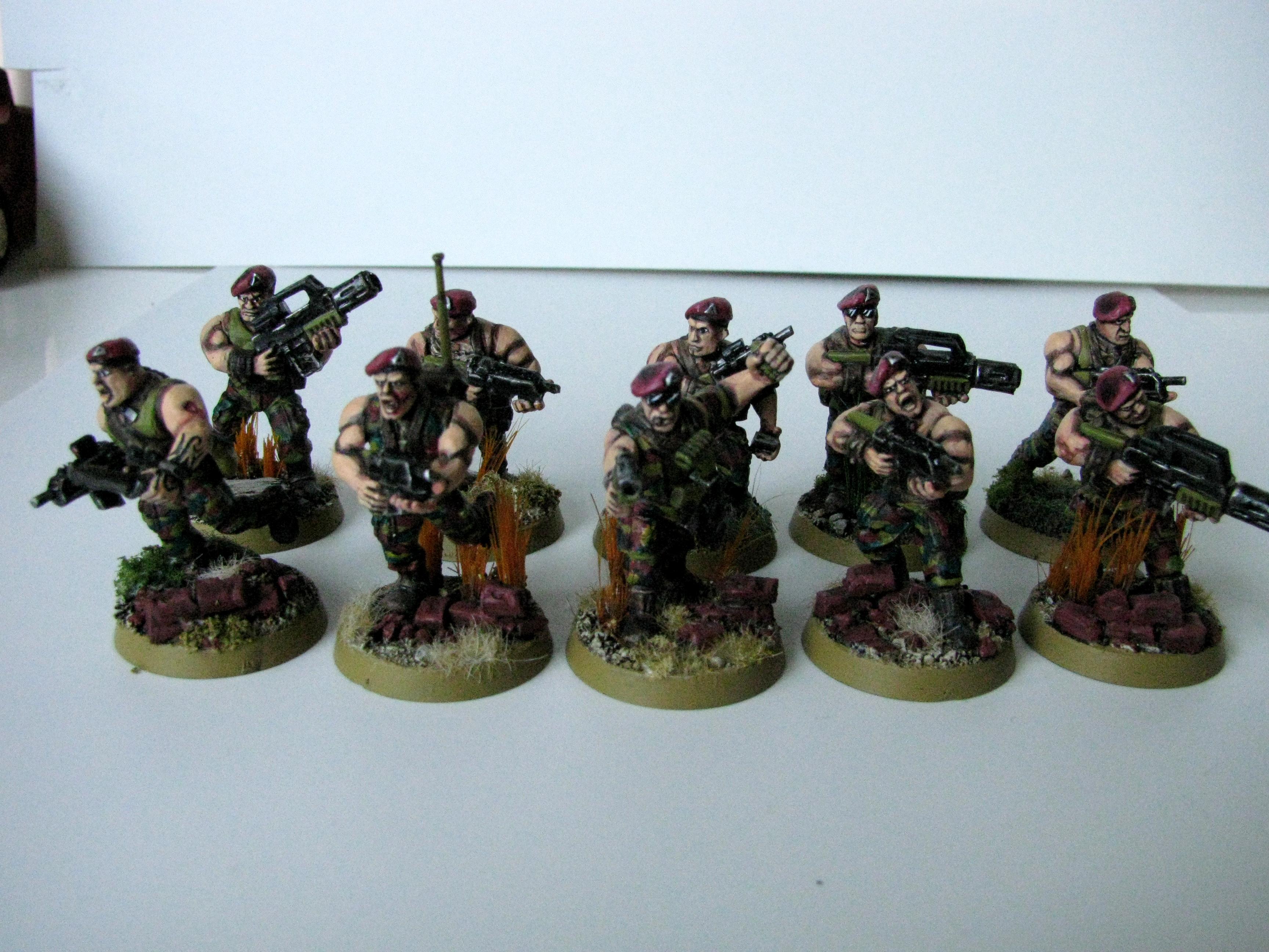 3rd, Belgium, Camouflage, Conversion, Darkon, Imperial Guard, Squad, Veteran, Warhammer 40,000, Work In Progress