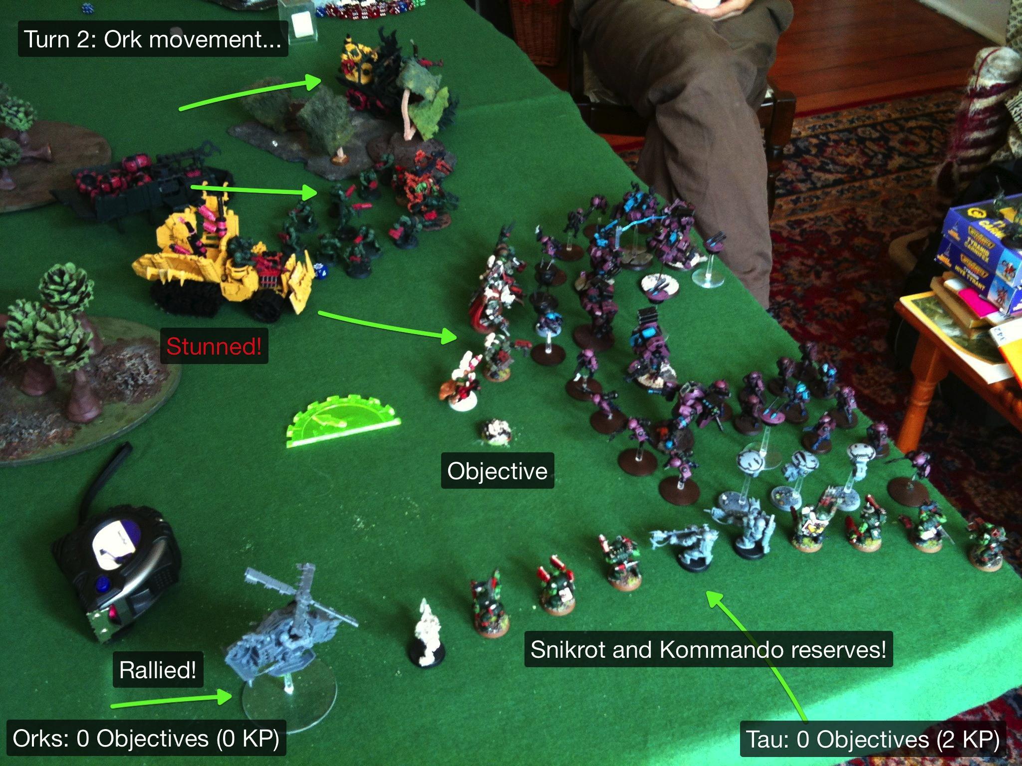 Battle Report, Da Ork Angelz, El Quixo, Orks, Tau