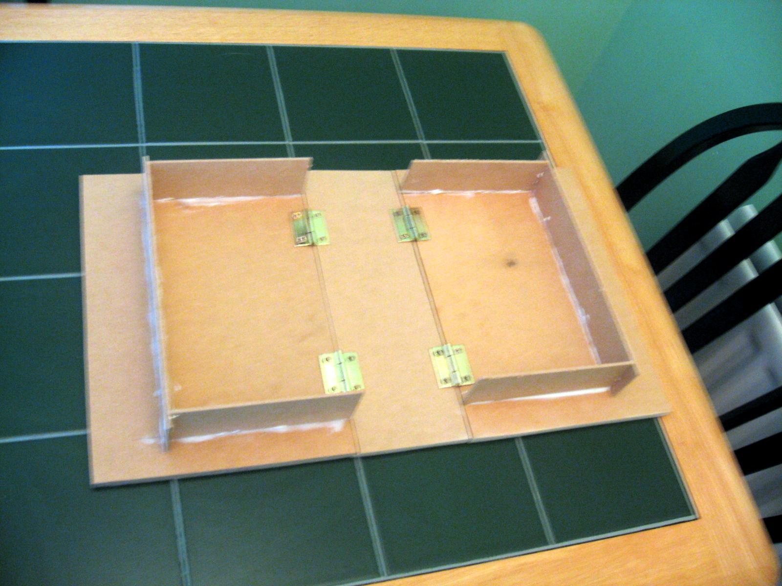 Board, Diorama, Folding, Hinges