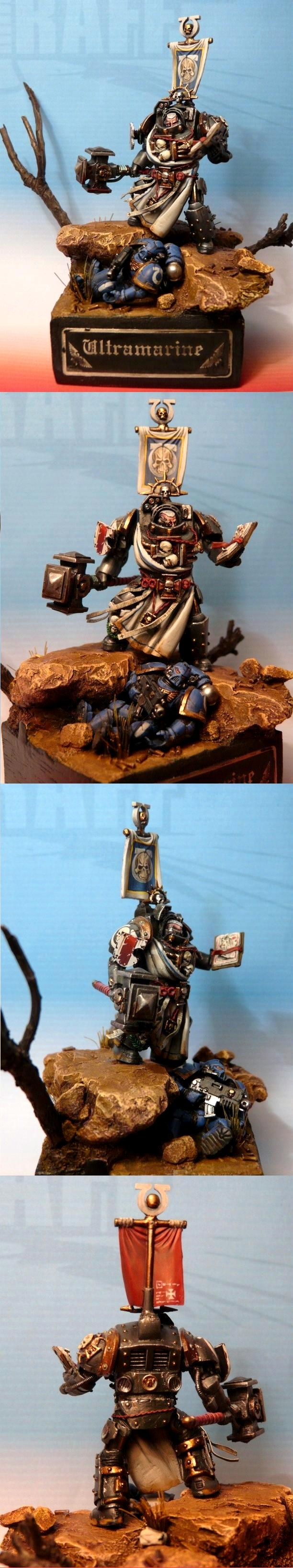 Diorama, Librarian, Space Marines, Terminator Armor, True Scale, Ultramarines