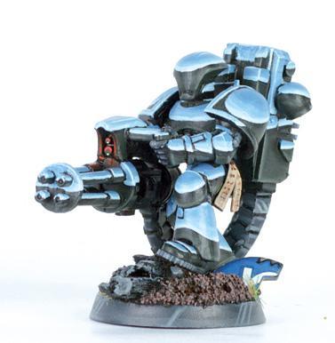 Chain Gun, Chrome, Non-Metallic Metal, Space Marines, Tau
