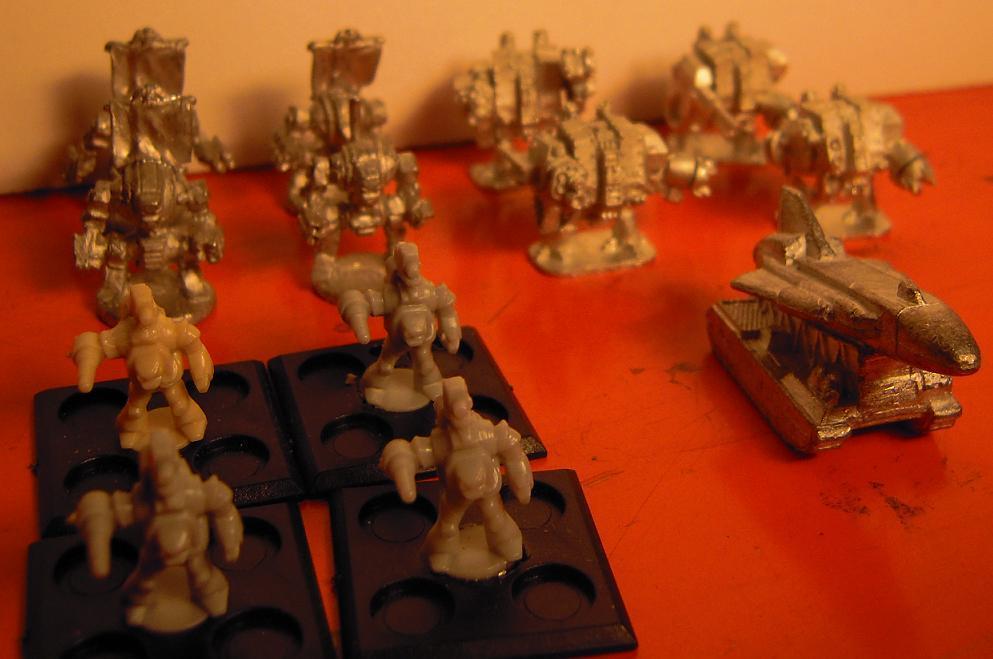 Chaos, Chaos Space Marines, Conversion, Dead, Dreadnought, Epic, Hellbrute, Iron Hands, Metal, Painted, Scratch, Scratch Build, Senes Antiqua, Senex, Space Marines