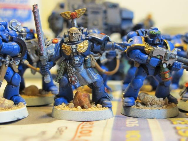 Chainsword, Flamer, Sergeant, Space Marines