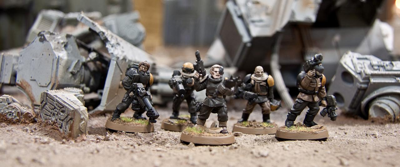 Flamers, Imperial Guard, Pcs, Platoon Command Squad