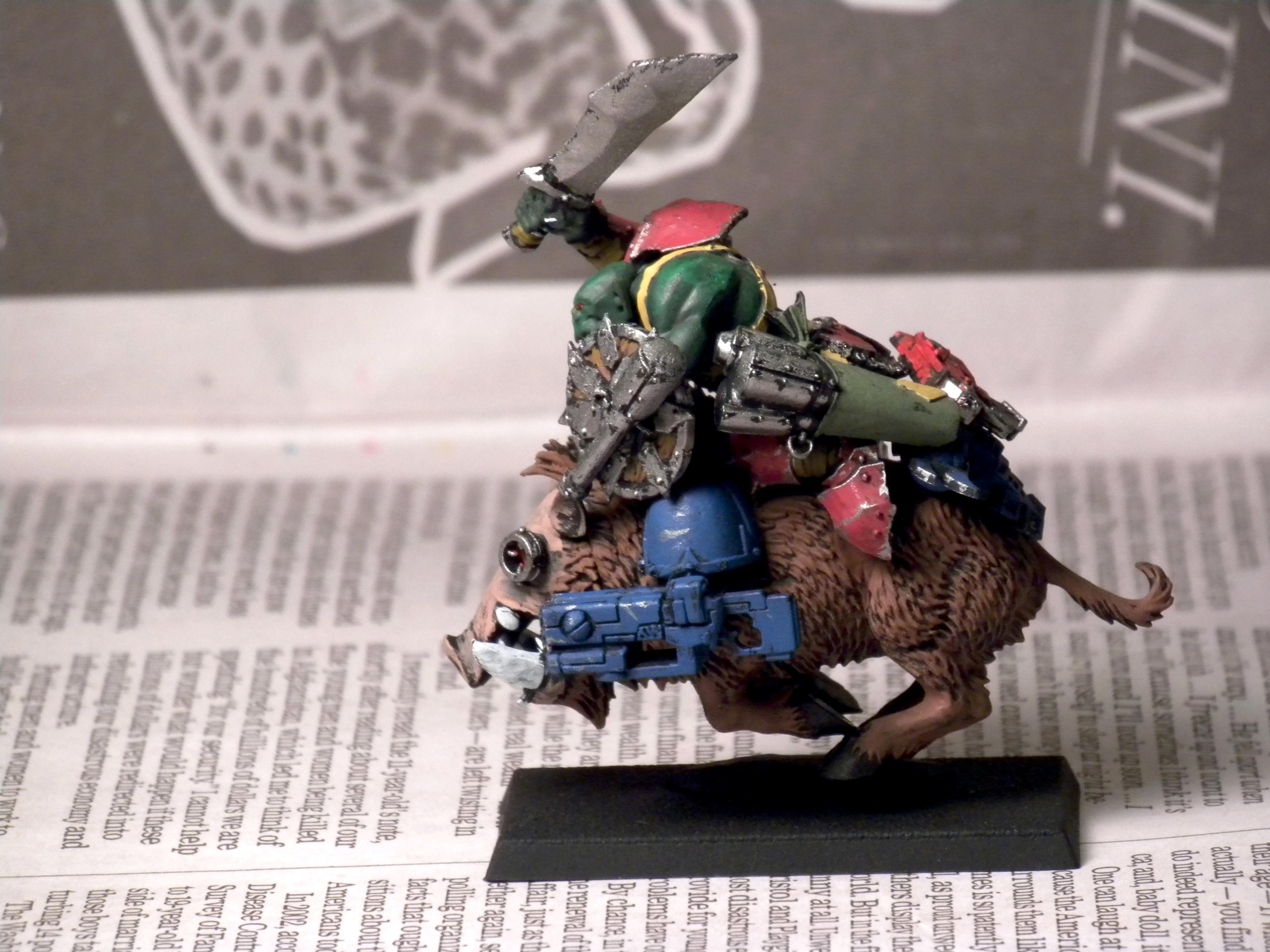 Conversion, Orks, Warbike, Warboar