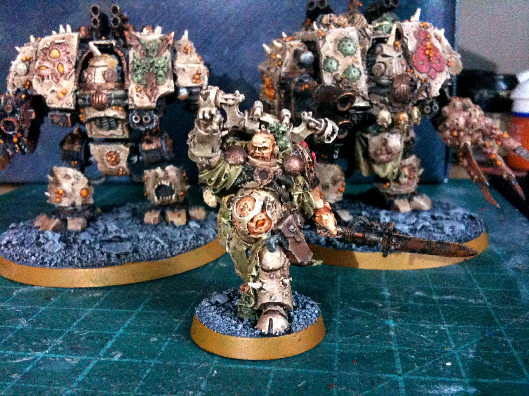 Chaos, Chaos Space Marines, Death Guard, Dreadnought, Nurgle, Plague Marines, Renegade, Sorcerer