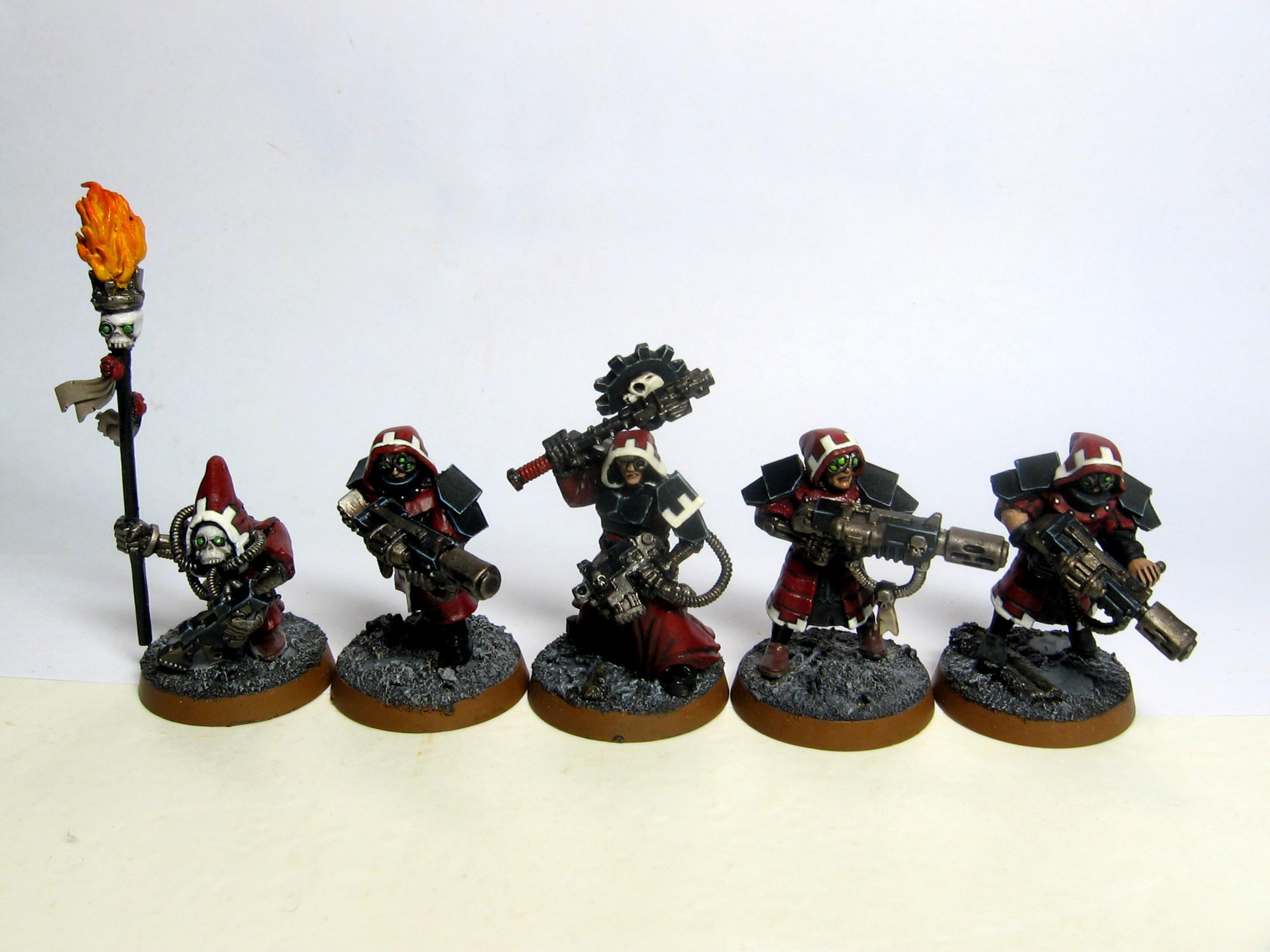 Adeptus Mechanicus, Command Squad, Conversion, Imperial Guard, Mechanicus, Veteran, Warhammer 40,000