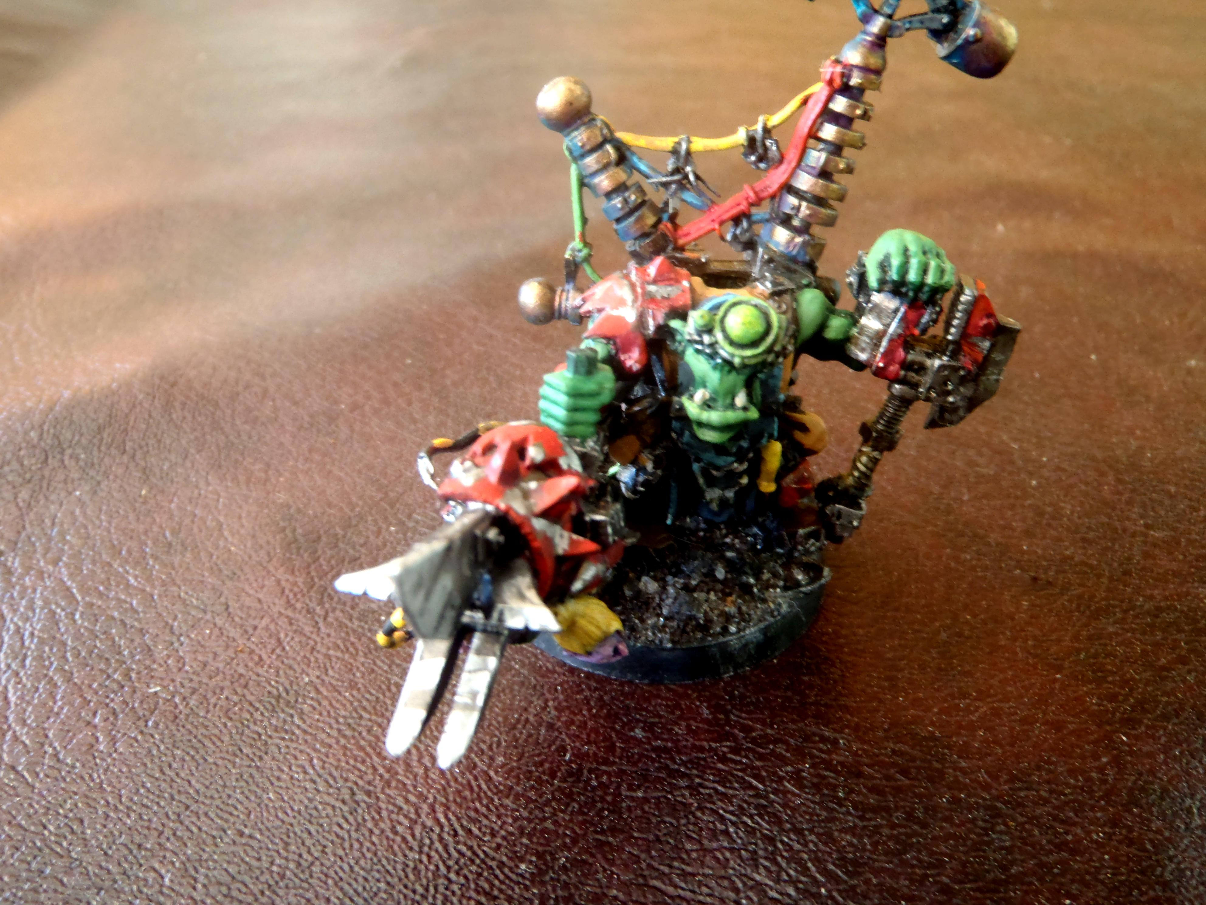 big mek with KFF PK and attack squig