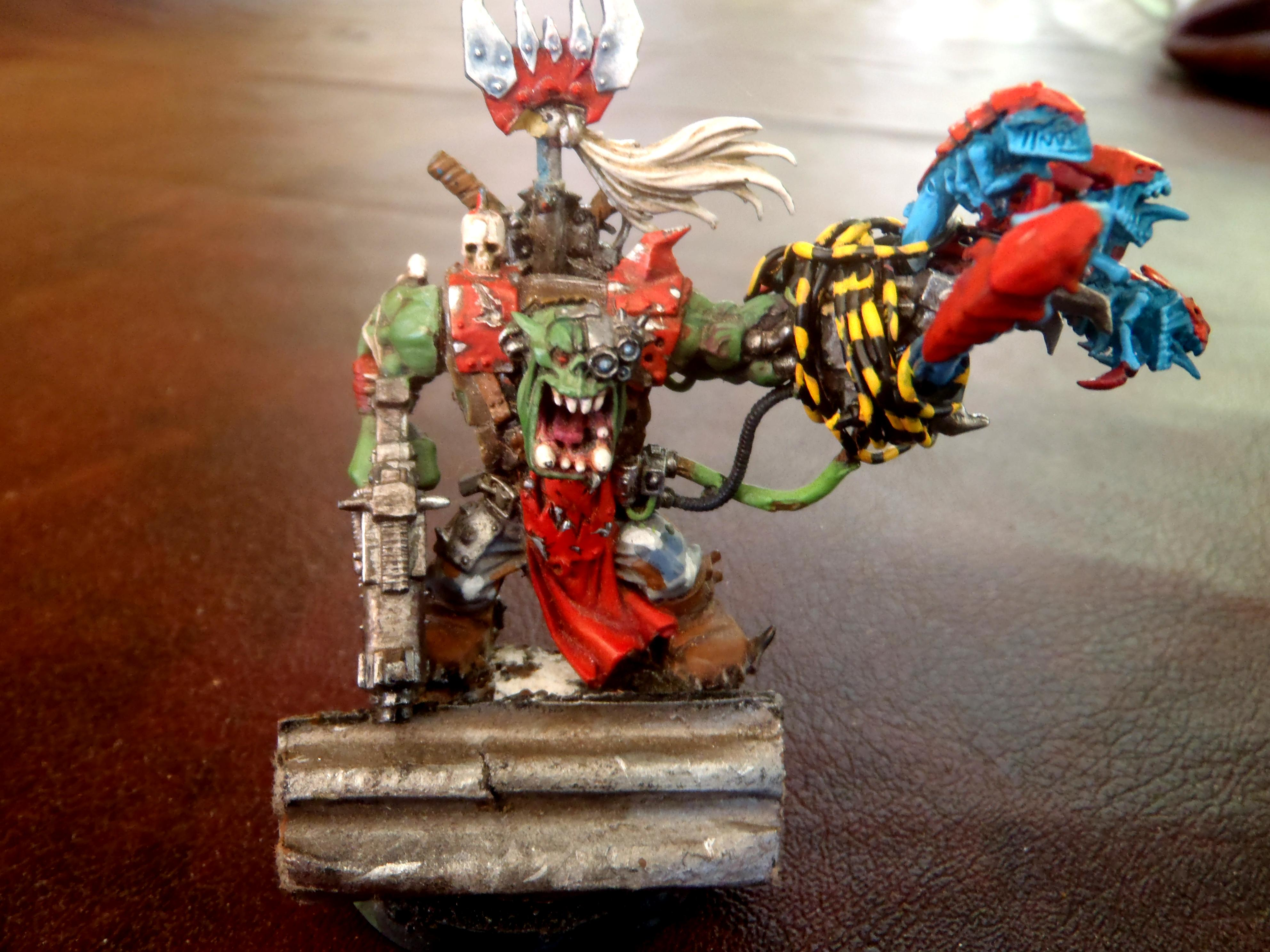 warboss with PK and attack squig