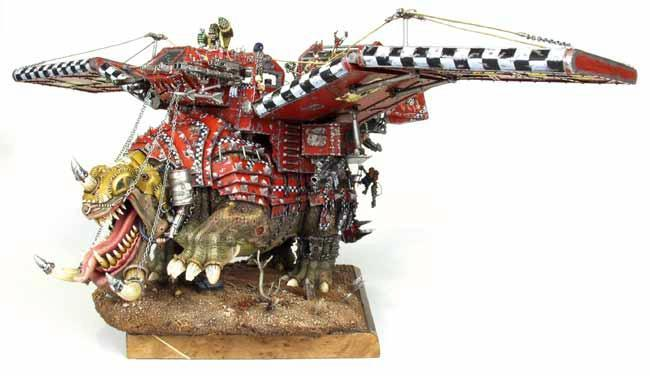 Conversion, Flying, Squiggoth, Waaagh!, Warhammer 40,000, Winged