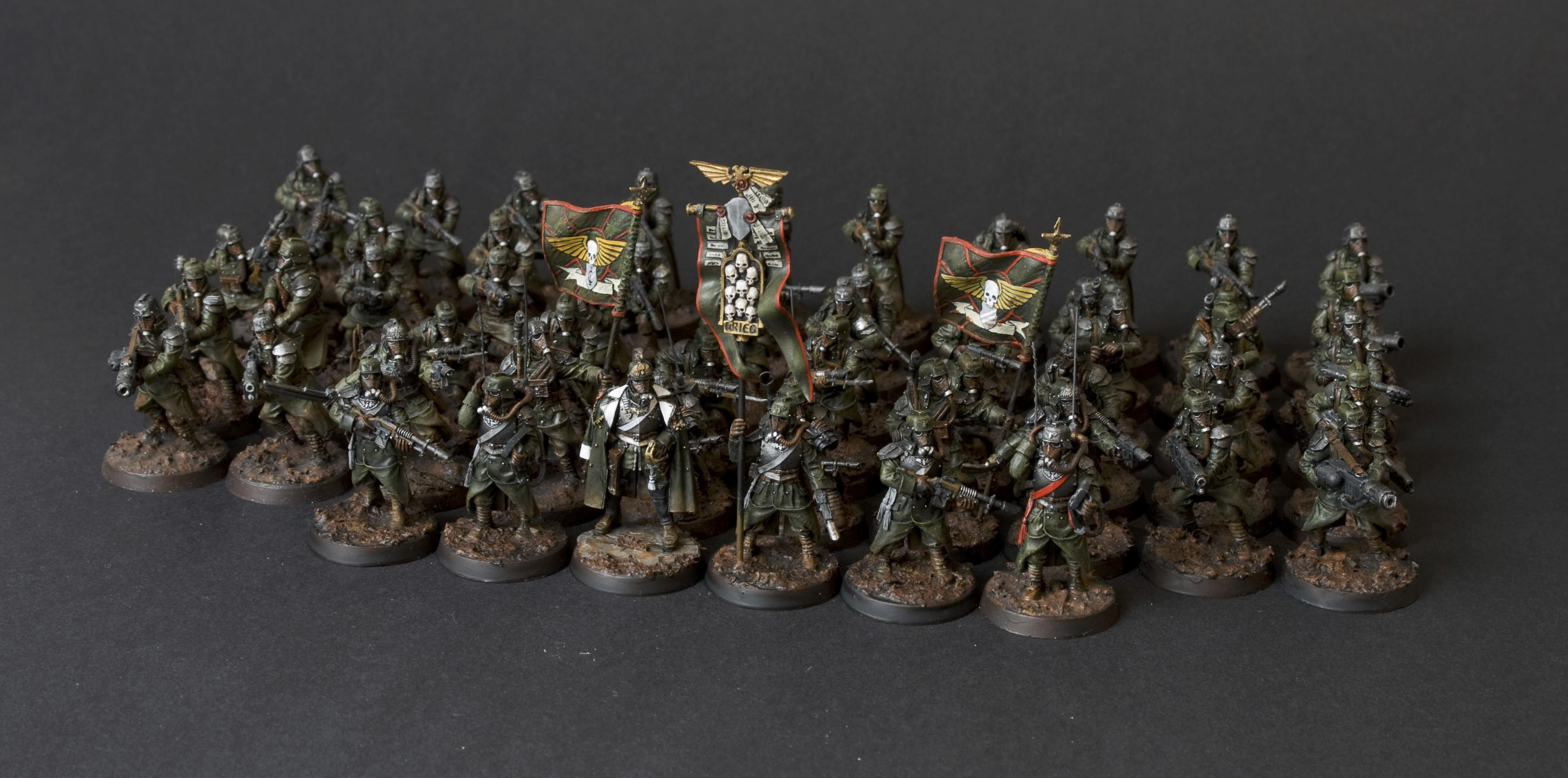 Death Korps of Krieg, Forge World, Green, Imperial Guard, Mud