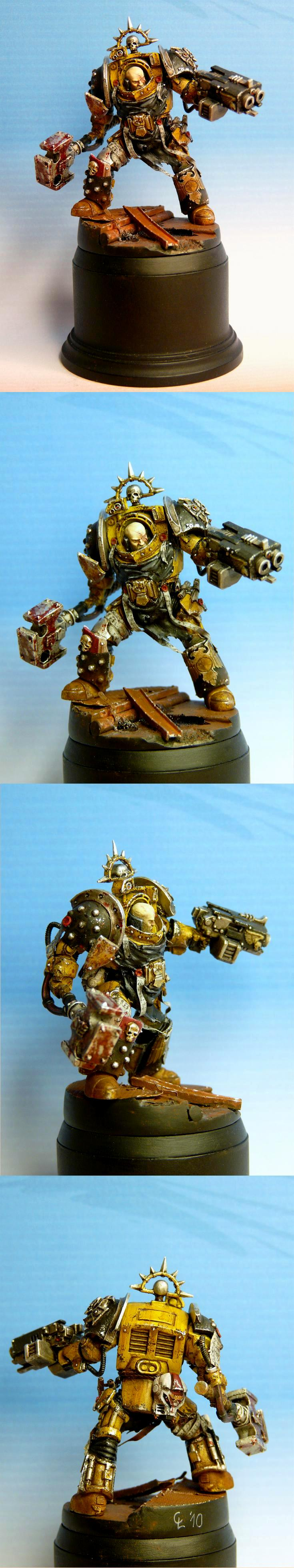 Awesome, Captain, Imperial Fists, Terminator Armor, Terminator Commander, True Scale
