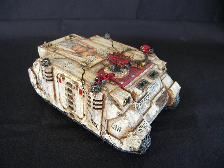 Rhino, Rihno, Snow, Space Marines, Warhammer 40,000, White
