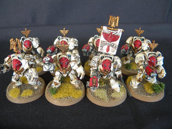 Angel, Dark, G Basing, Red, Space, Space Marines, Terminator Armor, Weatherin, White