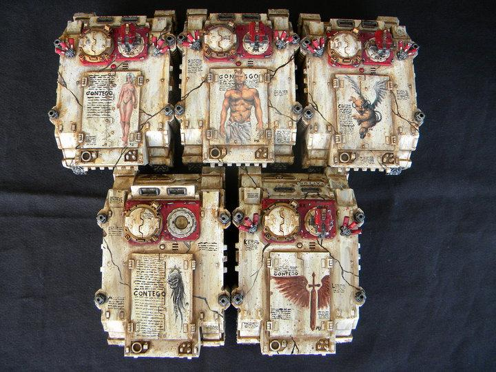 Awesome, Freehand, Games Workshop, Painted, Rhino, Space Marines, Warhammer 40,000