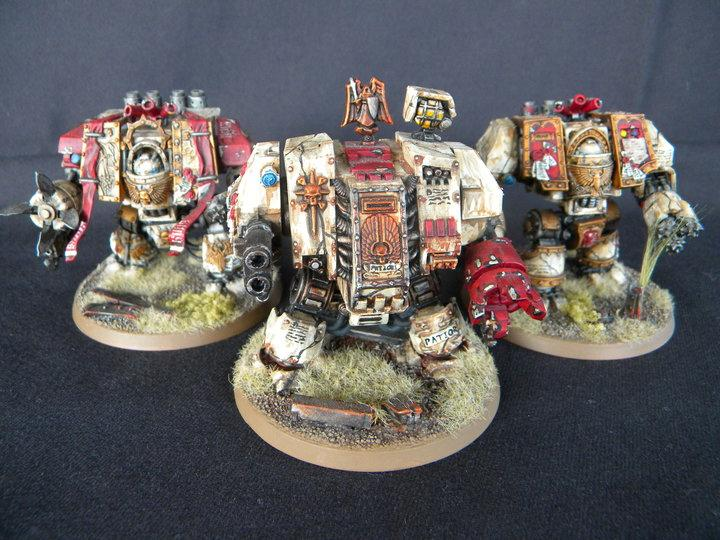 Dreadnought, Painted, Space Marine Dreadnoughts, Space Marines, Venerable Dreadnought, Warhammer 40,000