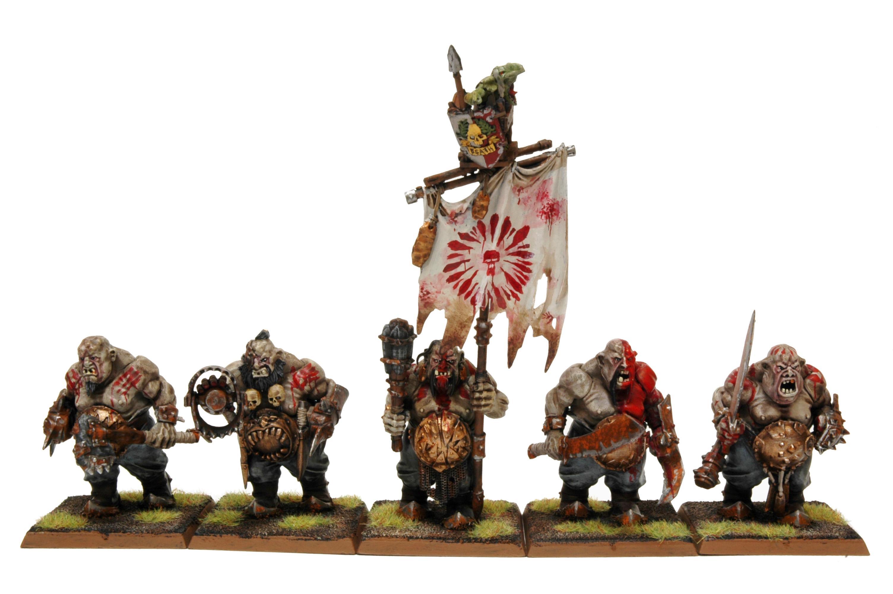 Bulls, Butcher, Ironguts, Kingdom, Leadbelcher, Ogres, Warpaint