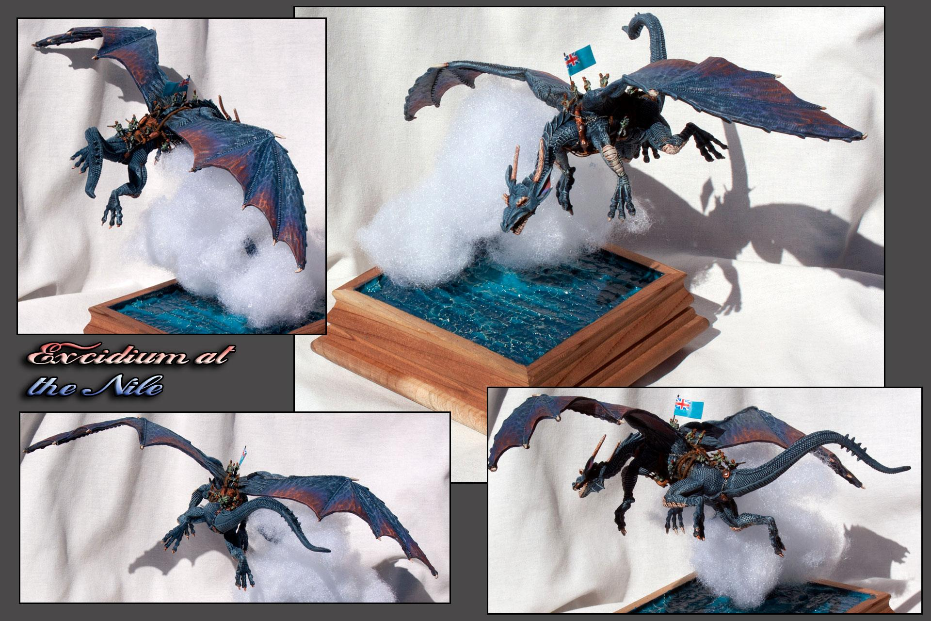 Diorama, Dragon, Flying, Temeraire