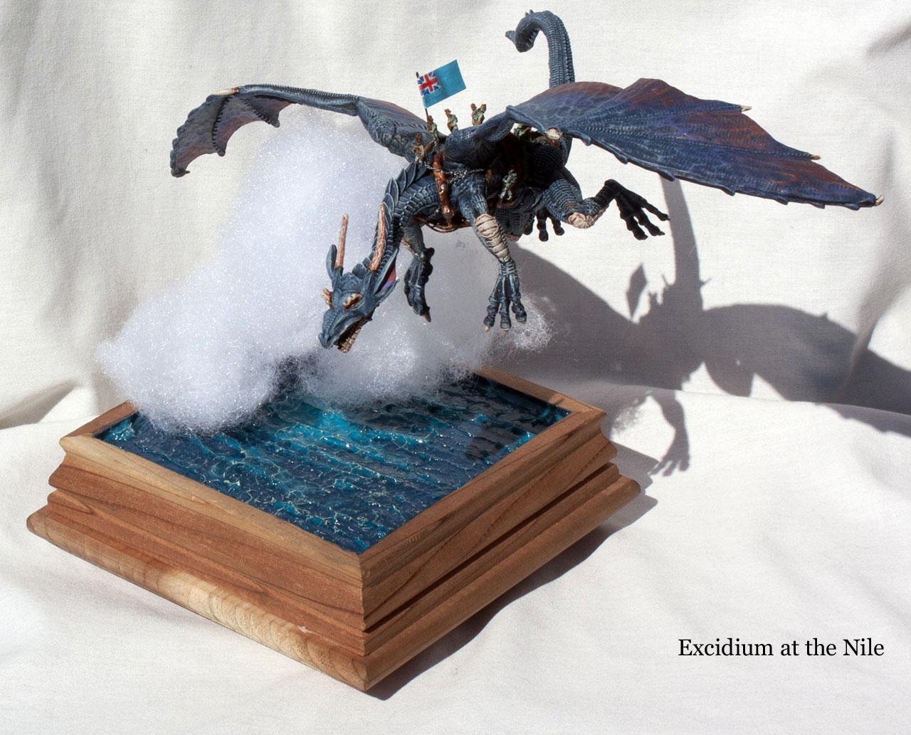 Diorama, Dragon, Excidium, Flying, Mount, Sky, Temeraire