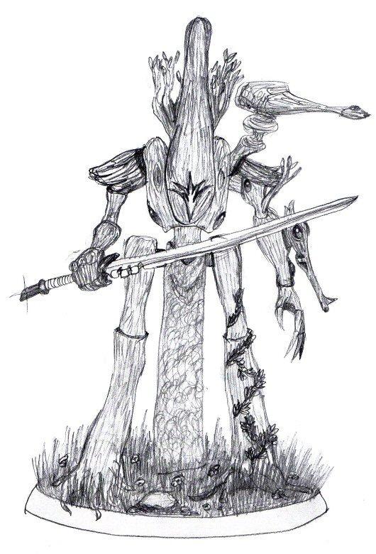 Artwork, Chaos, Concept, Daemons, Eldar, Idea, Photoshop, Sketch, Wood