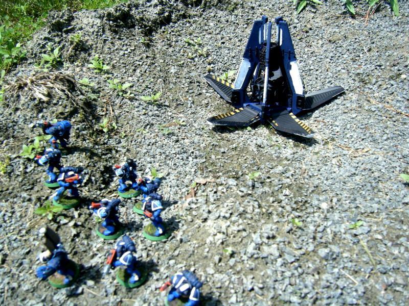 Diorama, Space Marines, Ultramarines, Warhammer 40,000