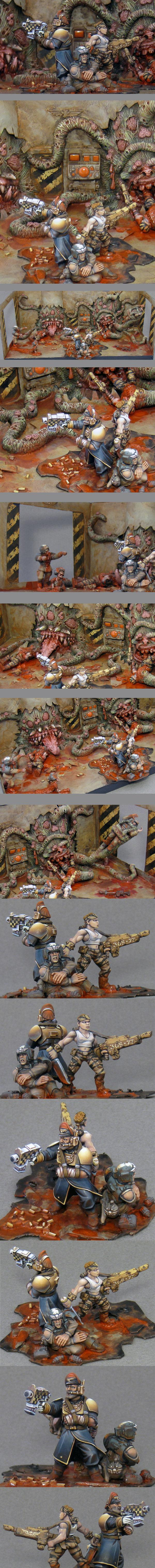 Blood, Catachan, Chaos, Commissar, Conscript, Daemons, Diorama, Imperial Guard, Last Stand, Massacre, Nurgle, Possessed, Slaughter, Steadfast, Tentacles, Wet Tshirt, Zombie