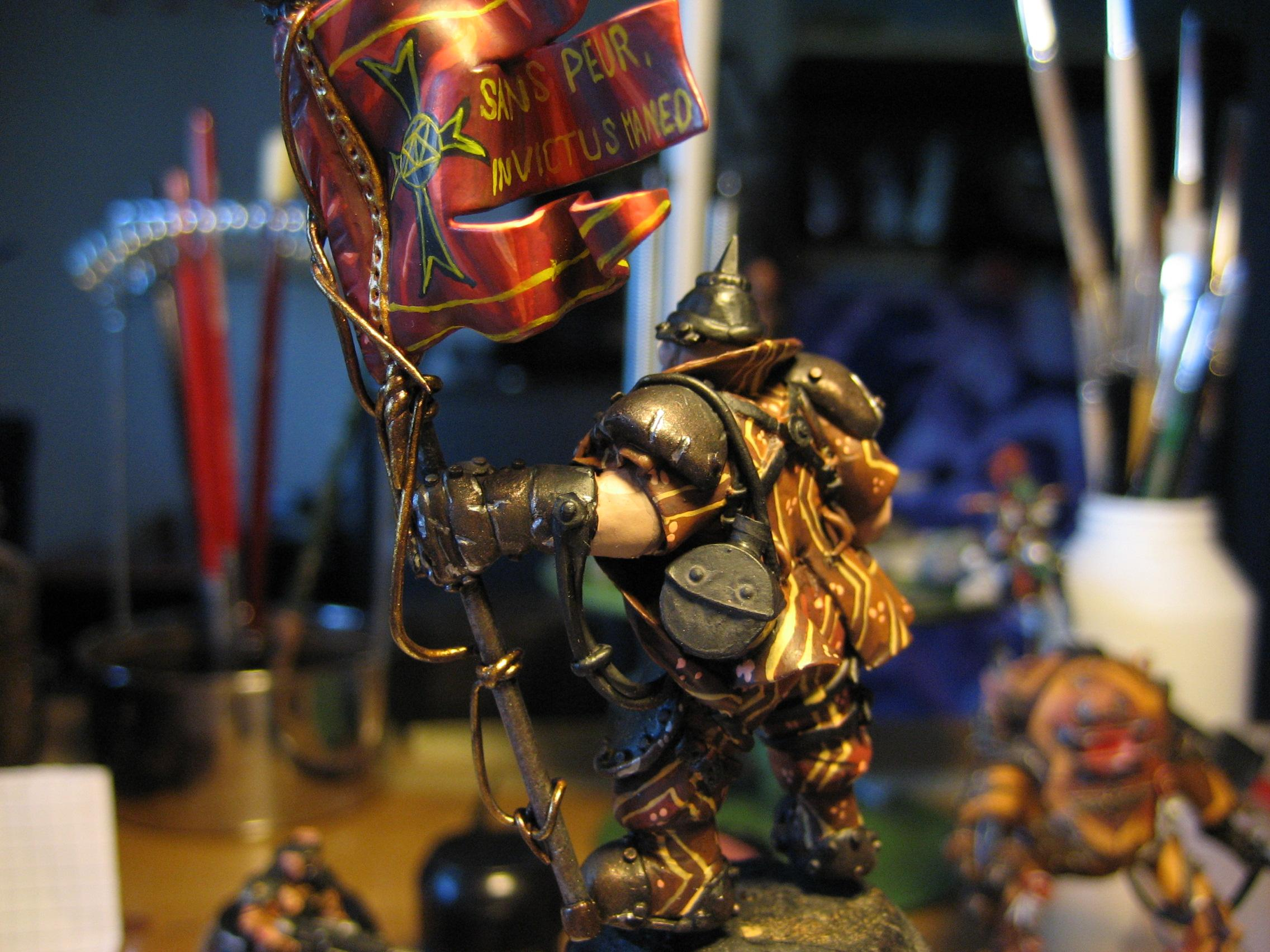 Awesome, Commissar, Details, Flag, Ogryn Bodyguard, Warhammer 40,000