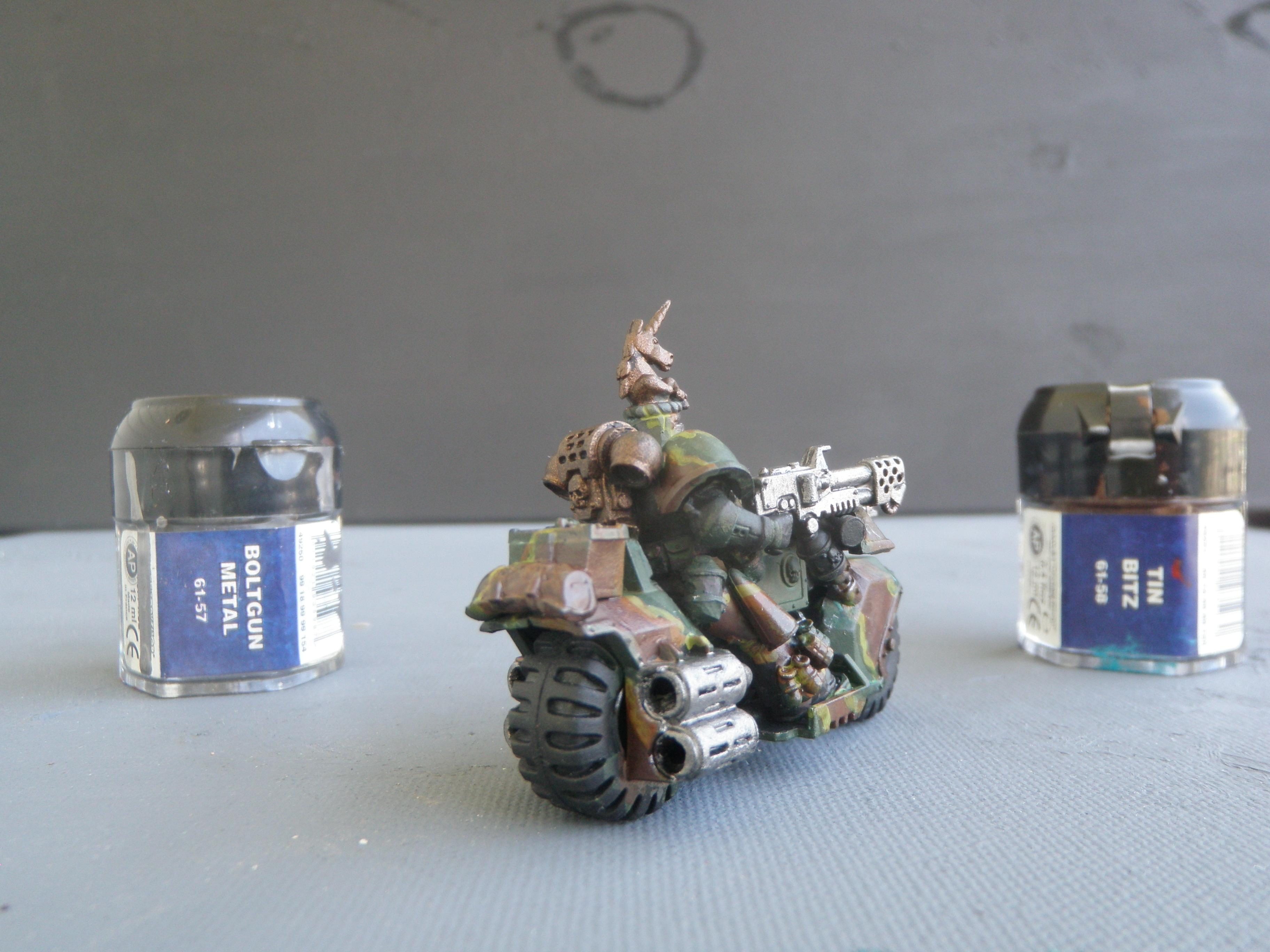 Bike, Camouflage, Space Marines
