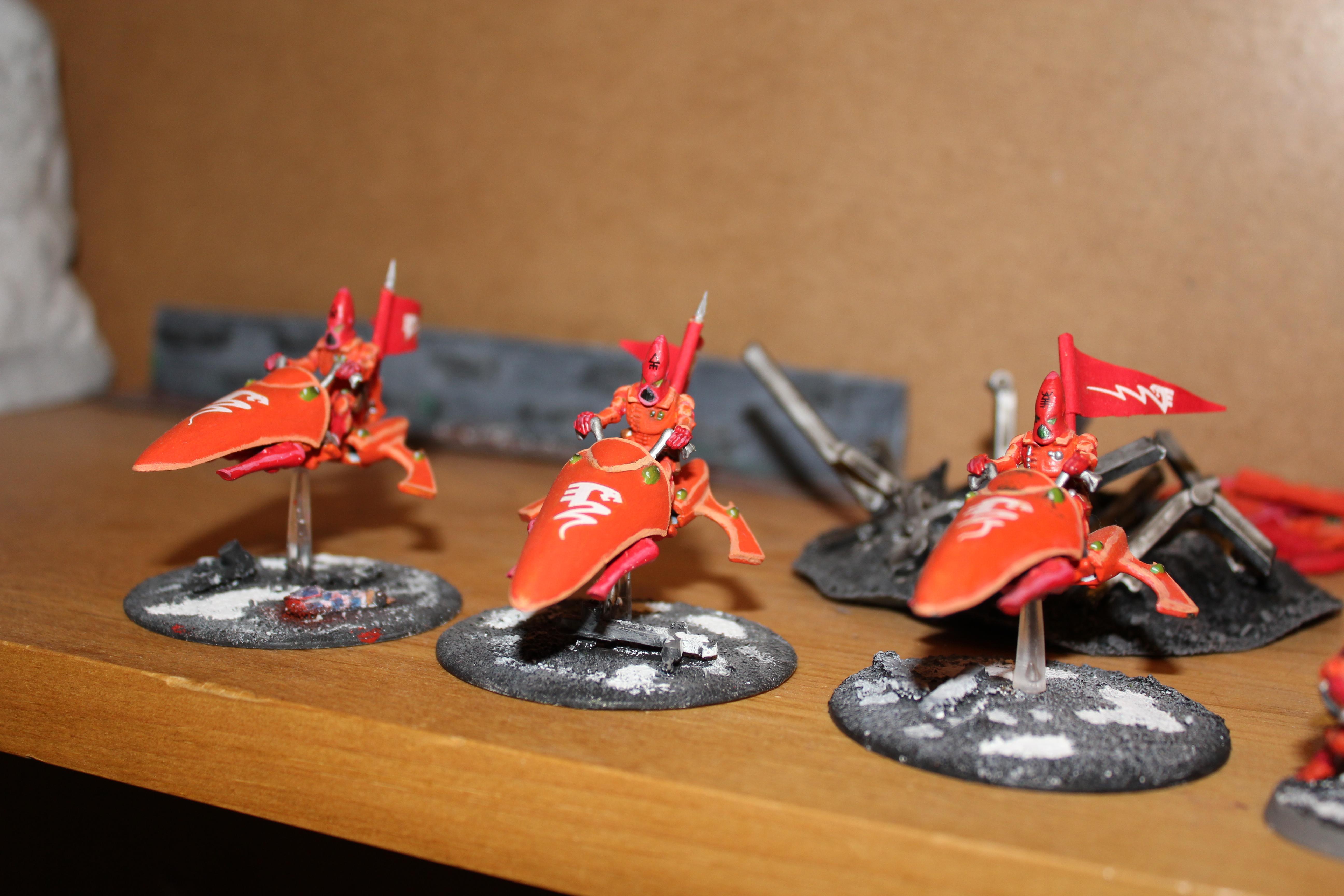 Eldar, Flag, Jetbike, Red
