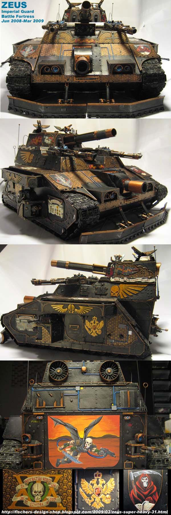 Apocalypse, Baneblade, Battle Fortress, Conversion, Freehand, Imperial, Large, Super-heavy, Tank
