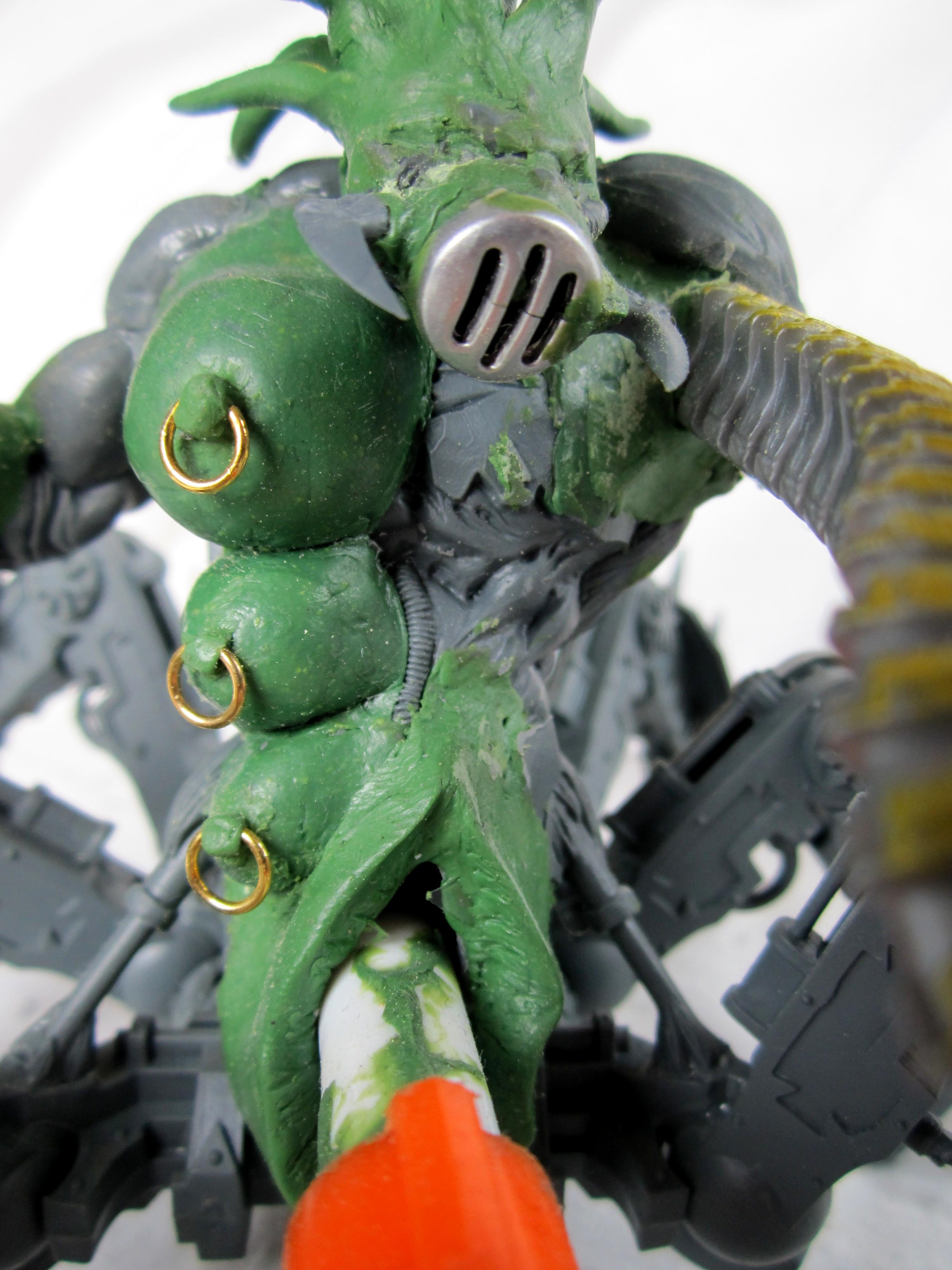 Chaos Daemons, Conversion, Greenstuff, Slaanesh, Solugrinder, Warhammer 40,000