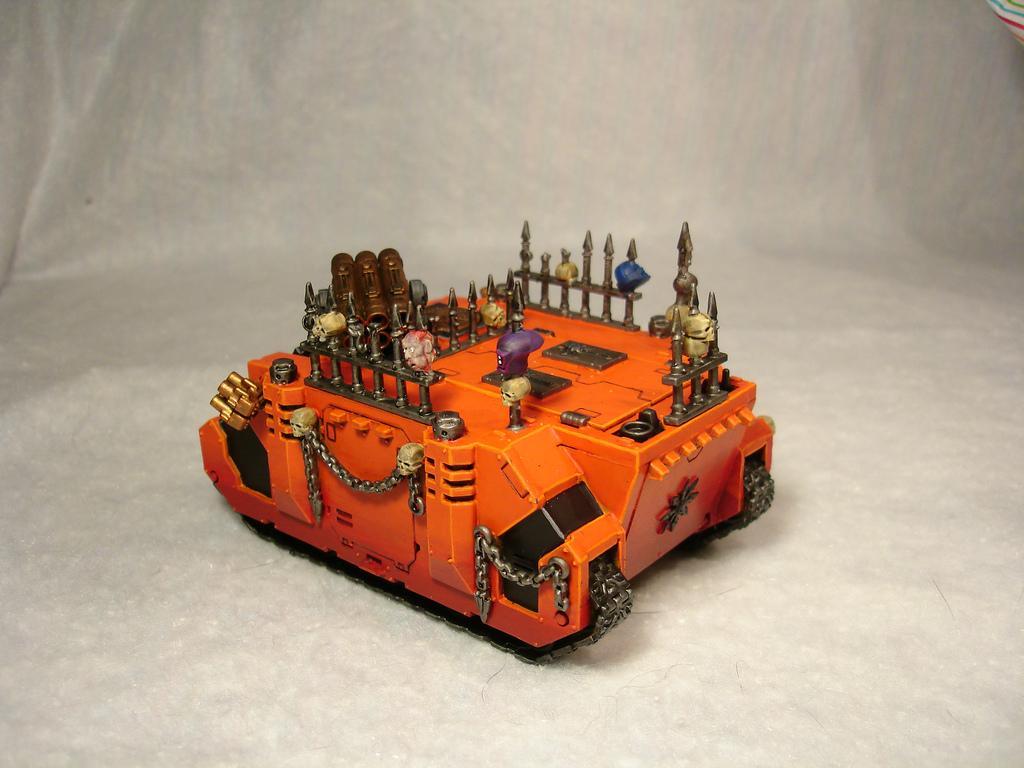 Berserkers, Chaos, Pyre, Rhino, Space Marines