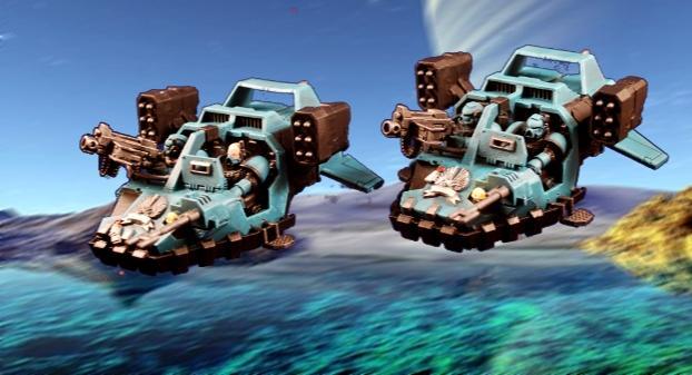 Land Speeder, Photoshop, Space Marines