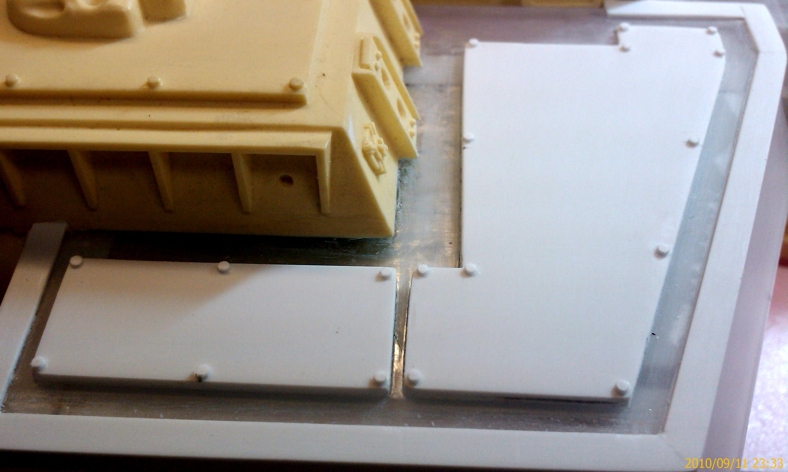 Roof armor riveted up close