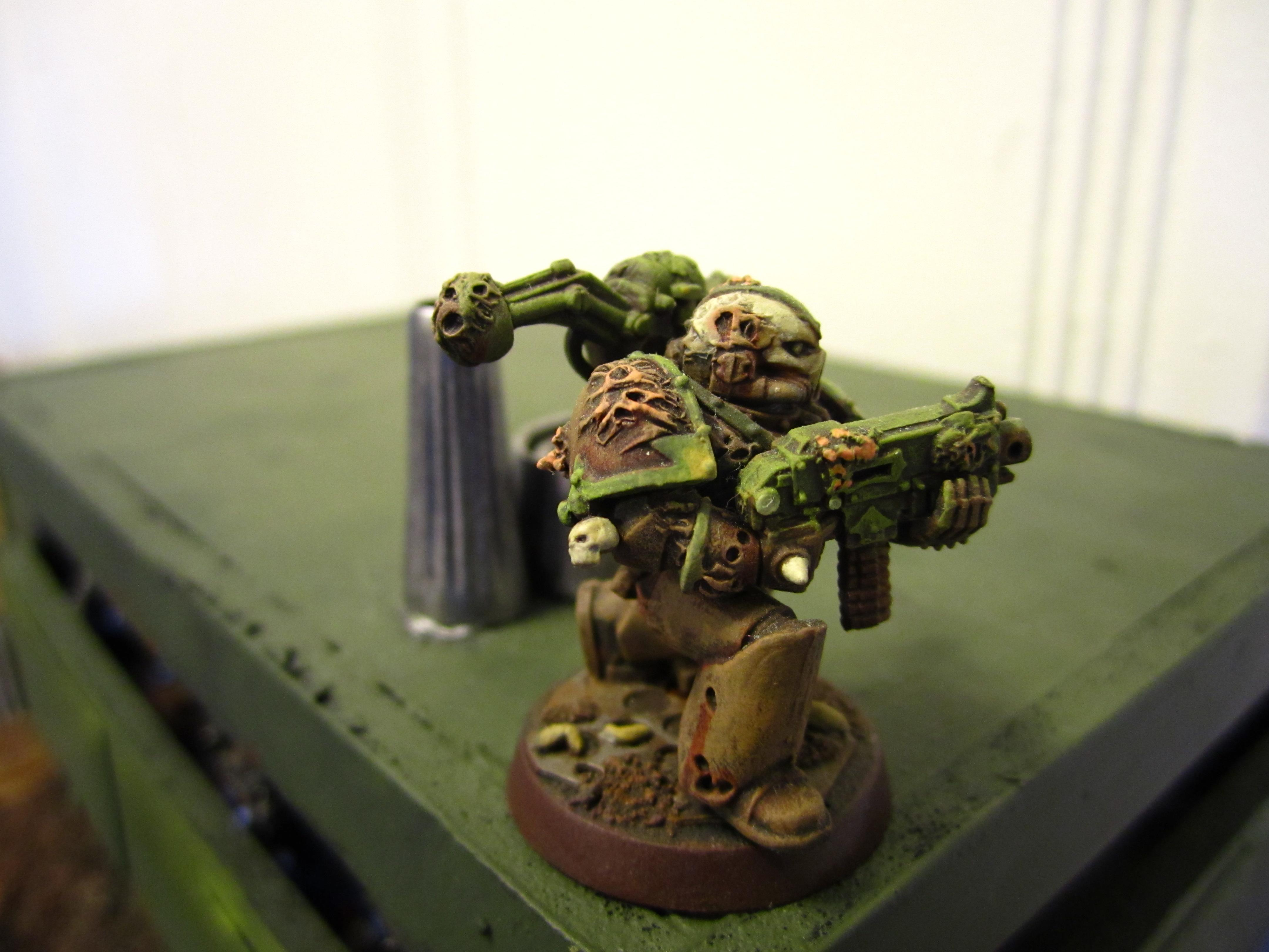 Chaos Space Marines, Conversion, Death Guard, Nurgle, Plague Marines, Warhammer 40,000