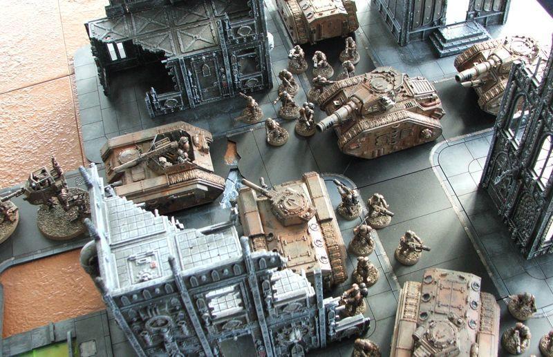 Chimera, City, Forge World, Imperial Guard, Leman Russ, Salamander, Sentinel, Terrain, Warhammer 40,000