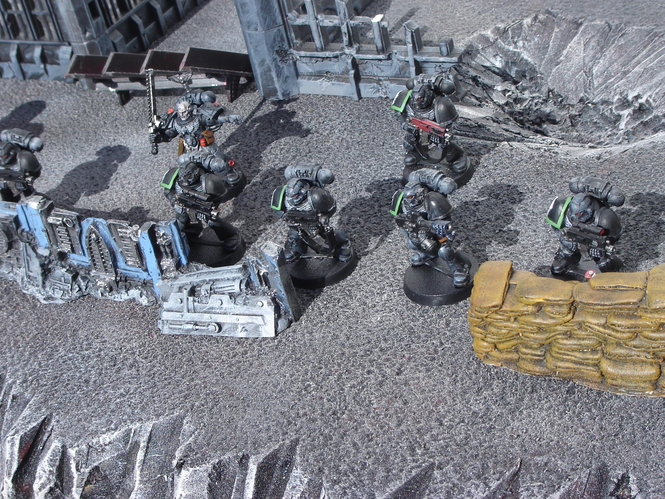 Moonscape, Raven Guard, Rg, Rocky, Shadow Play, Space Marines, Sunlight, Troops