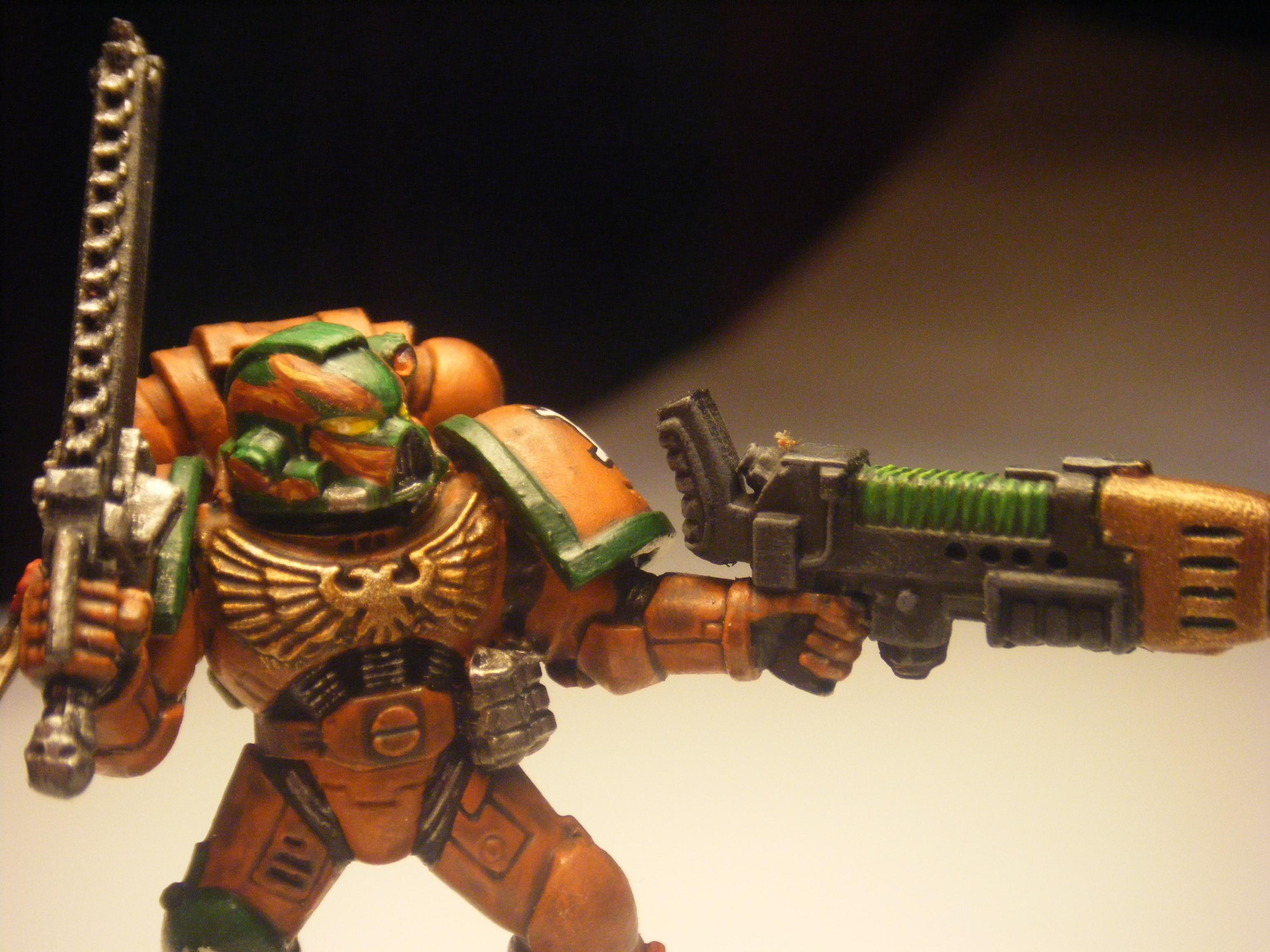 Chainsword, Great Marine Swap, Plasma Gun, Space Marines, Warhammer 40,000