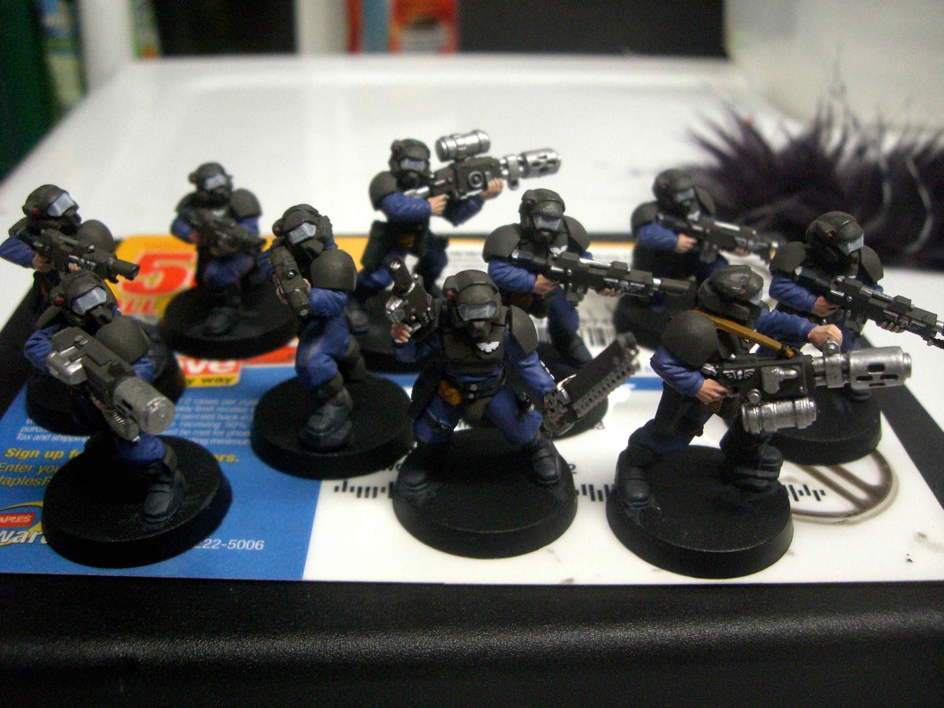 Adeptus Arbites, Imperial Guard, Odst, Penal Squad, Quickshade, Swat, Veteran, Work In Progress