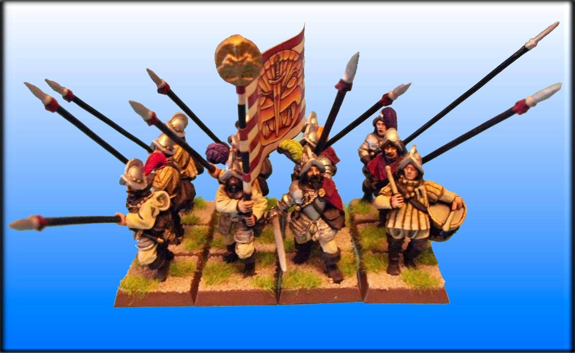 Dogs Of War, Pikeman, Warhammer Fantasy, White