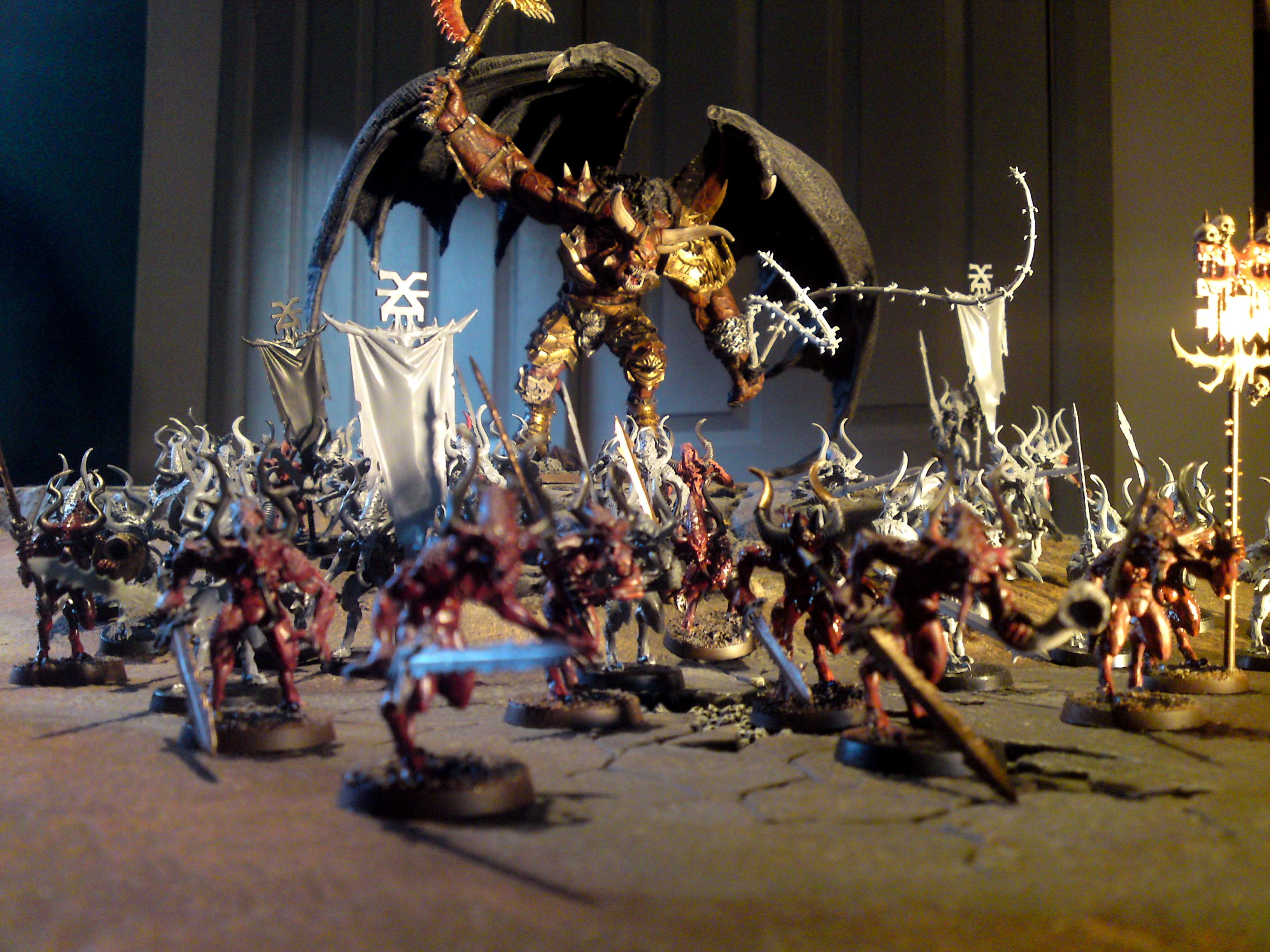 Bloodthirster, Chaos, Daemons, Forge World, Greater Daemon, Khorne, Work In Progress