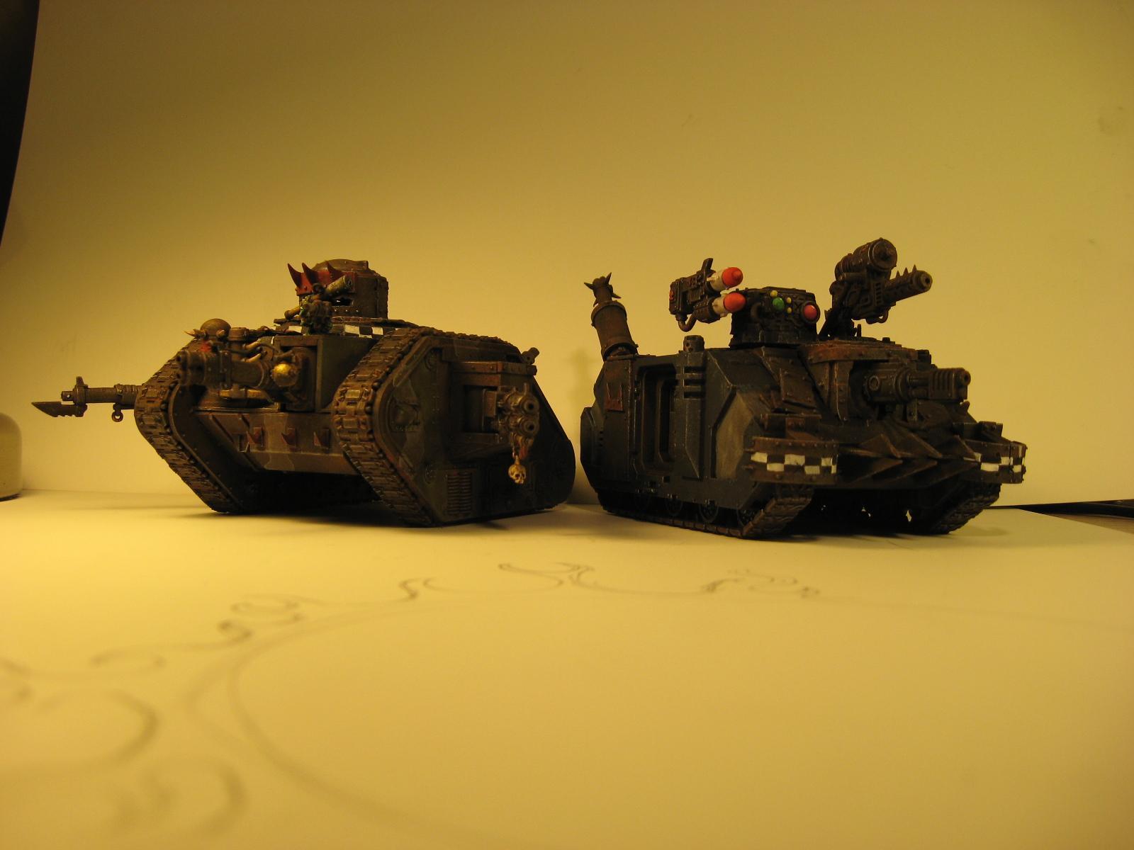 Looted Tanks, Orks, Skorcha, Warhammer 40,000