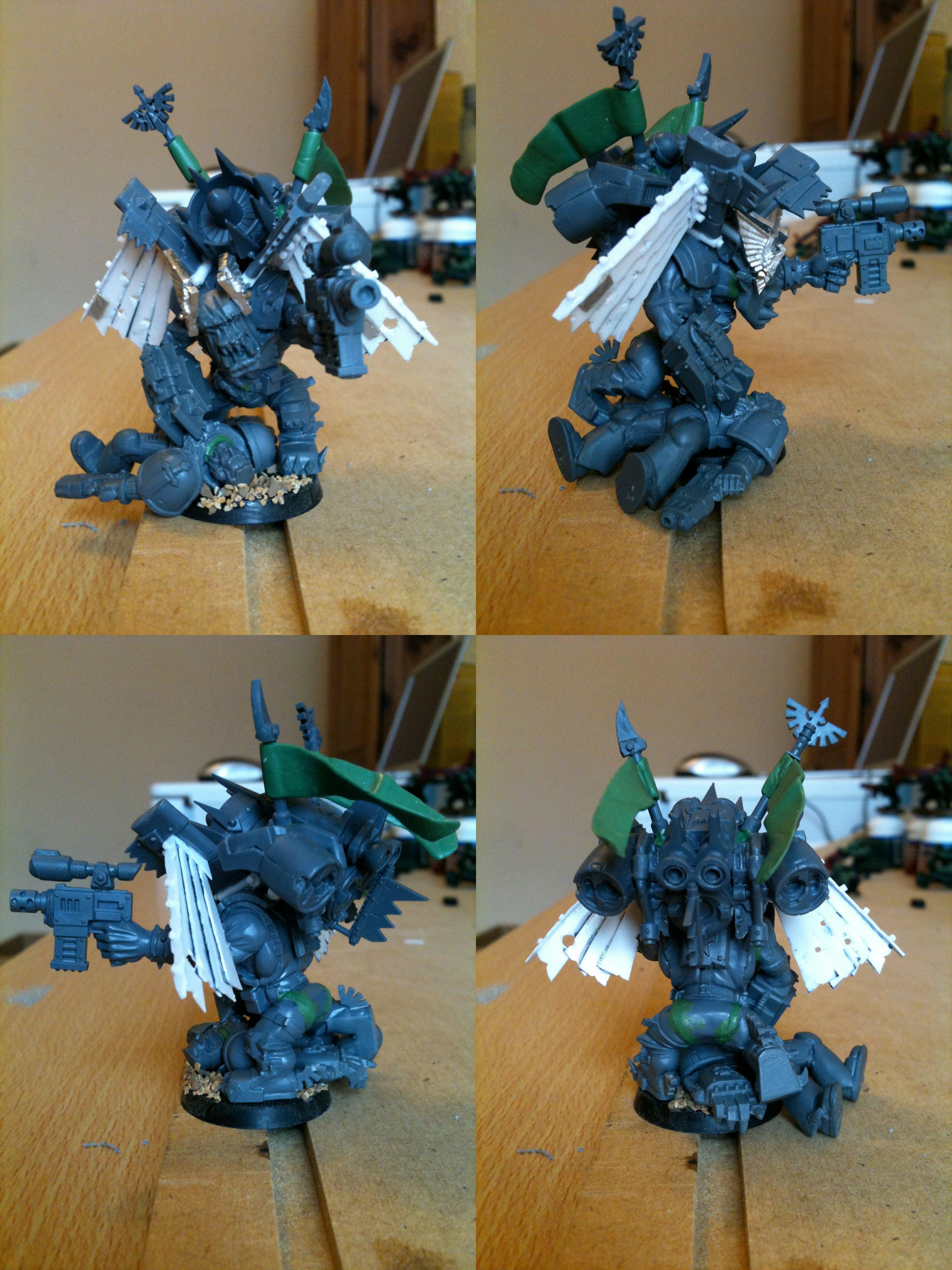 Da Dark Angelz, Nob, Orks, Stormboyz, Work In Progress