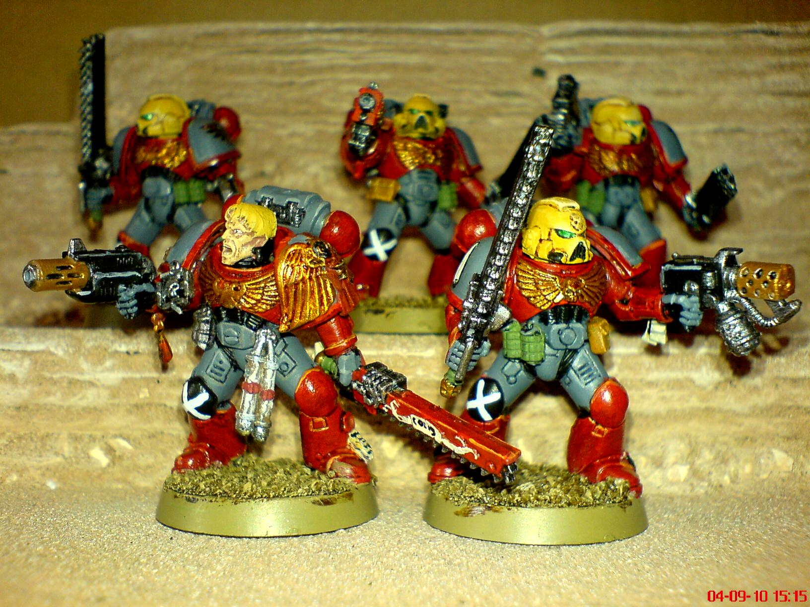 Assault Squad, Blood Angels, Blood Wraiths, Power Armour, Space Marines, Successors
