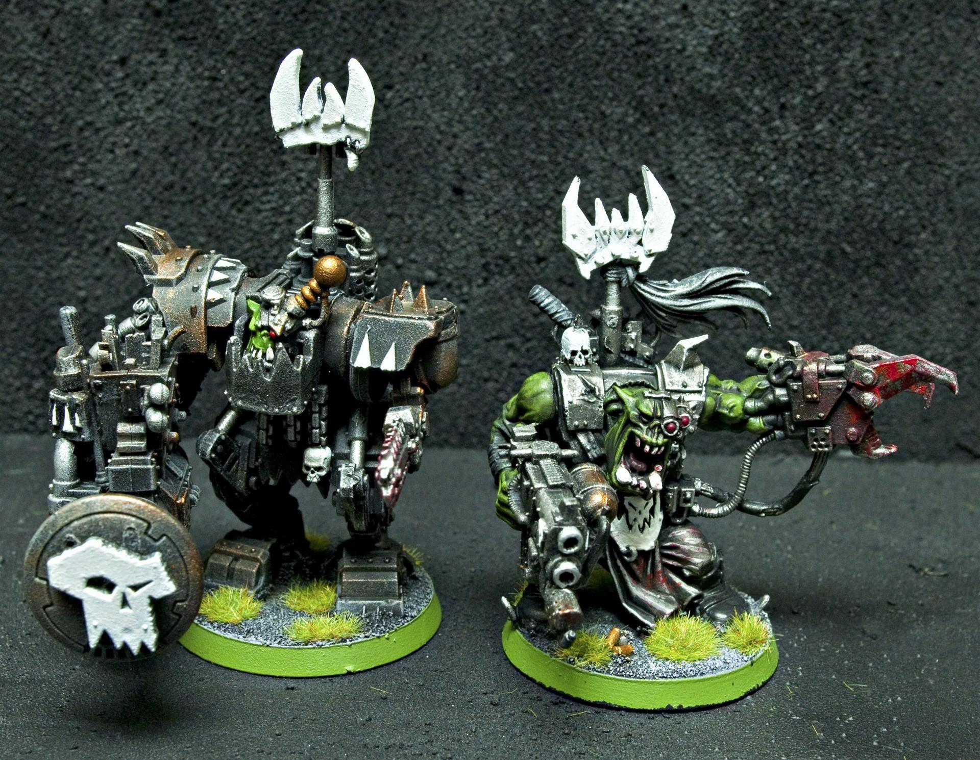 Big Mek, Bigmek, Goff, Goffs, Kustom Force Field, Ork Leaders, Orks, Power Klaw, Warboss