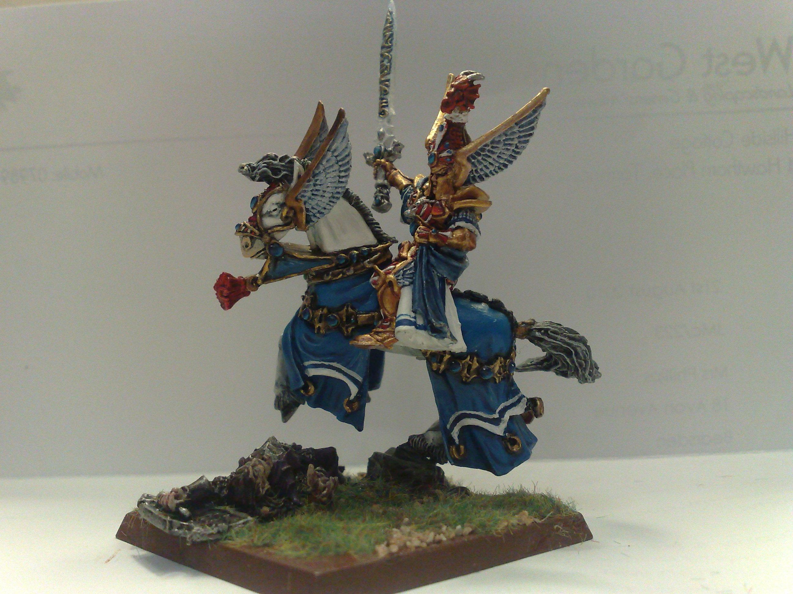 Champion, Defender, General, High Elves, Horse, Metallic, Mount, Tyrion, Ulthuan, Warhammer Fantasy, Wfb
