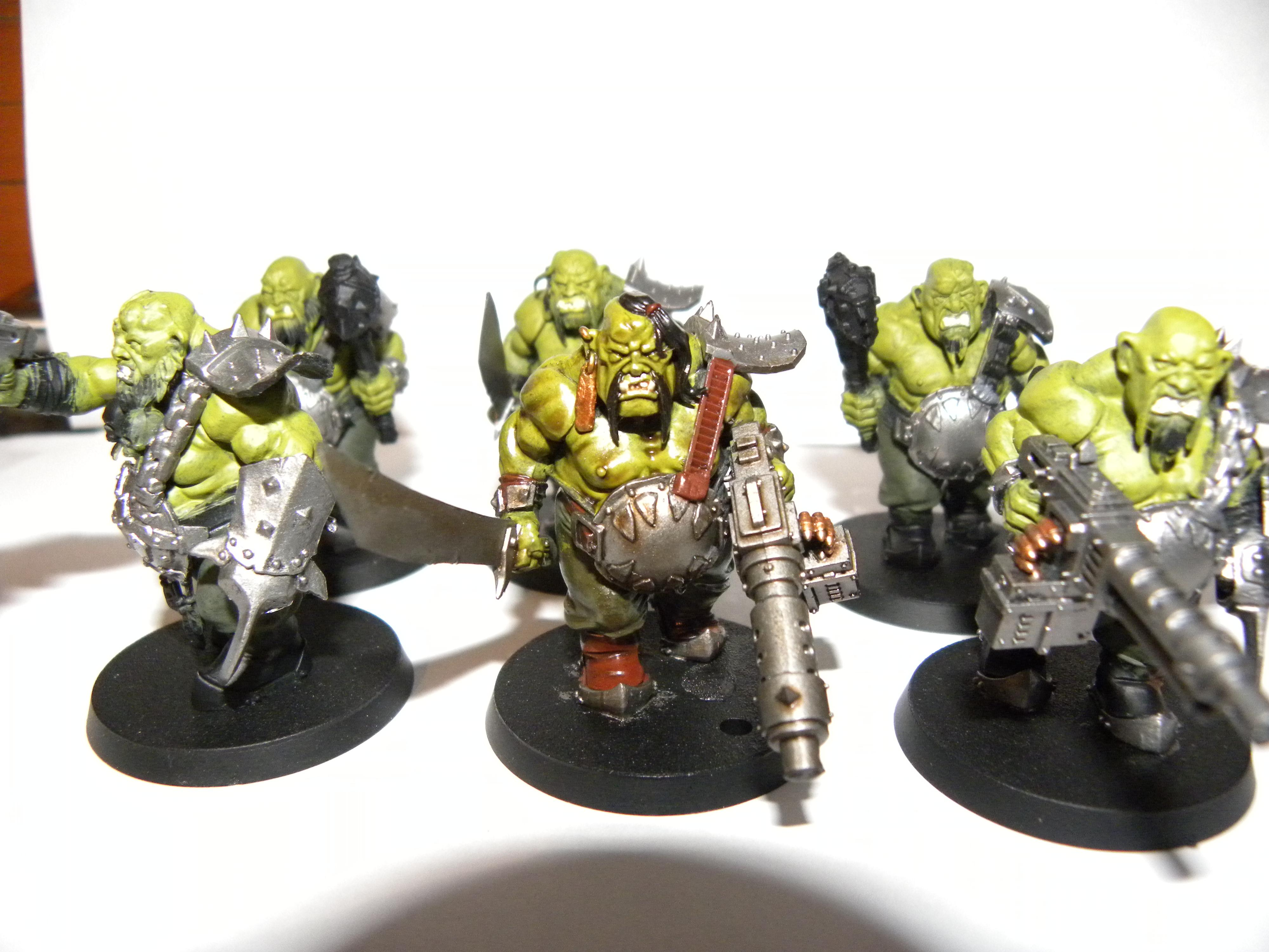 six mean-looking Ogres WIP