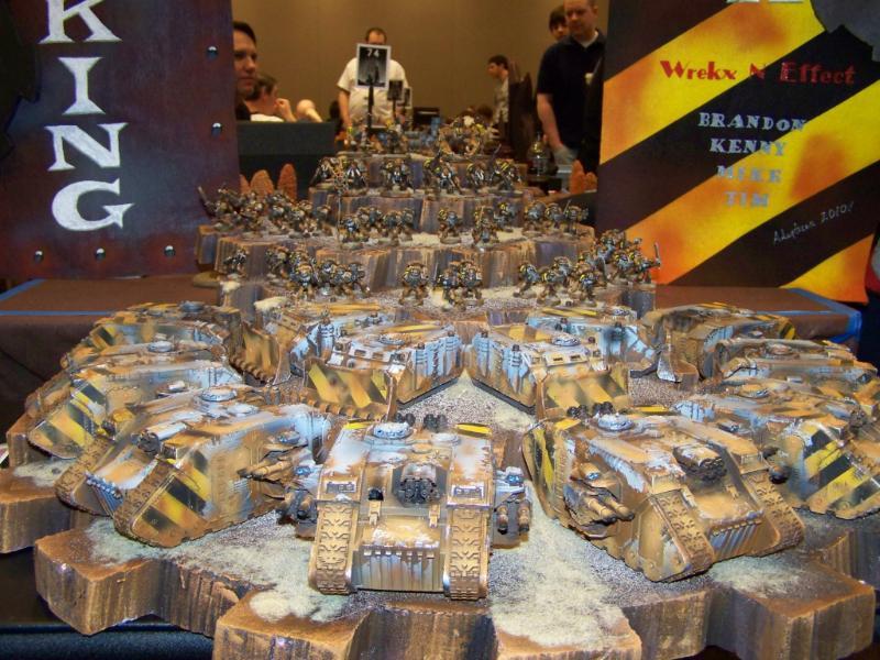 Adepticon 2010, Chaos Space Marines, Chaos Spacemarines, Iron Warriors, Land Raider, Rhino, Weathered